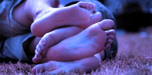 feet of lovers having sex