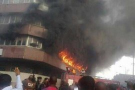 Shop razed by Idemudia Obamonyi