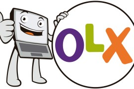OLX Logo with a humanoid laptop