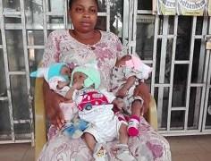 Ugomma edobor and her triplets
