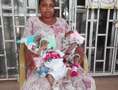 Ugomma edobor and her triplets