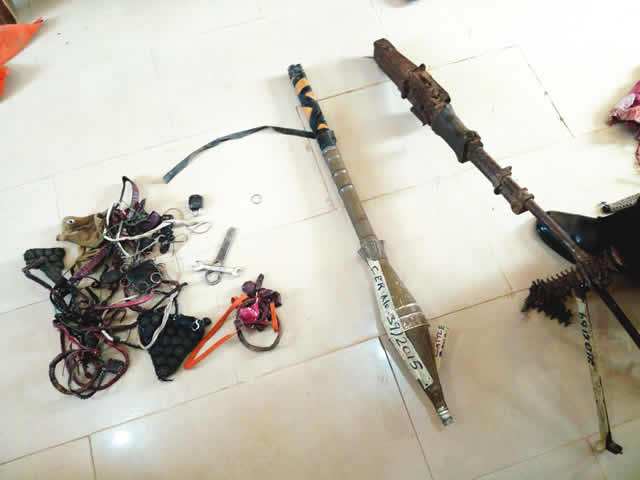rocket launcher recovered in kebbi