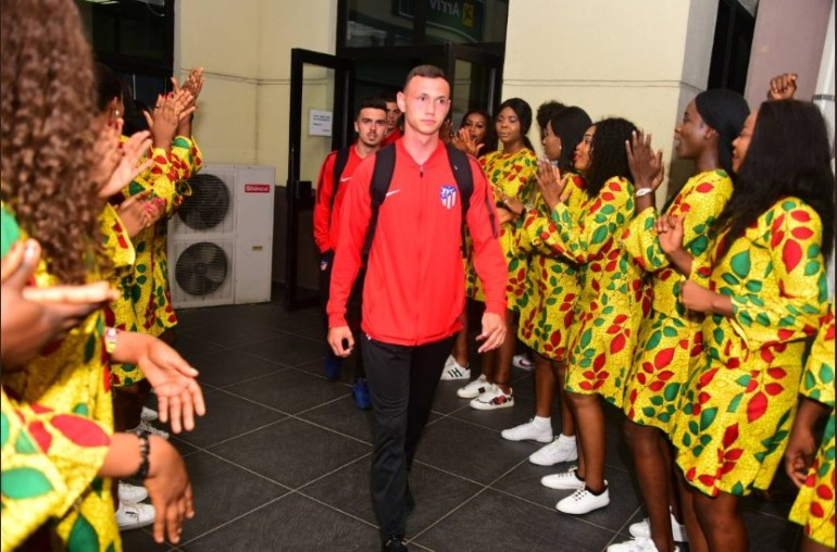 Atletico players arriving Nigeria