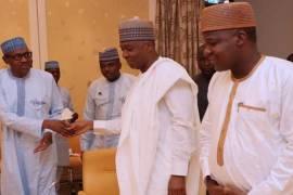 Buhari with Saraki and Dogara