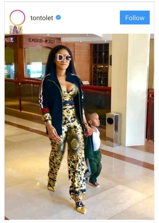 Instagram Photo of Tonto Dikeh with son