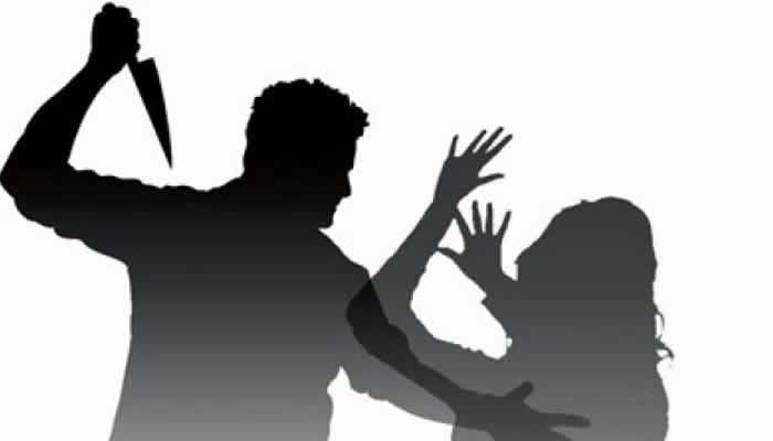 murder silhouette man stabbing woman