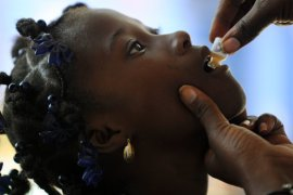 Girl being treated for Cholera orally