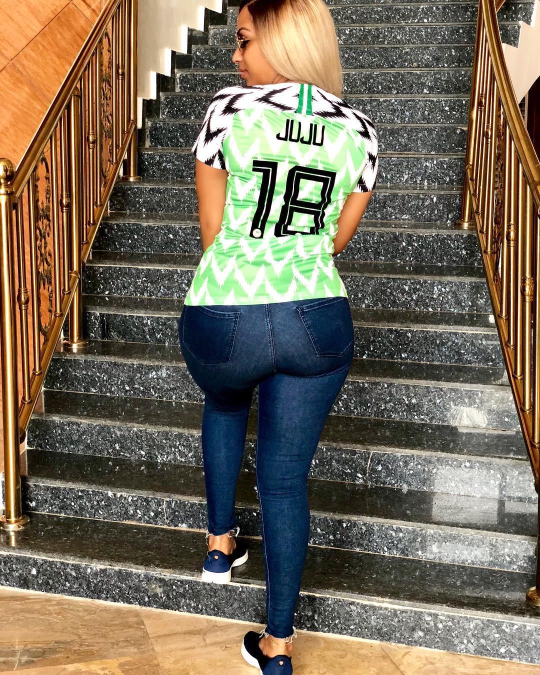 963f17841a4 PHOTOS  Nigerian Celebrities Rock Super Eagles Jersey ⋆