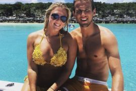 Harry Kane and wife Katie Goodland