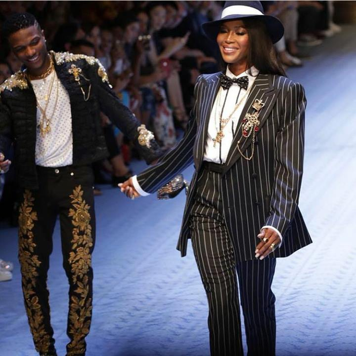 Image result for wizkid walks the runway rs