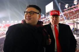 Kim Jong Un Impersonator Along With Donald Trump Impersonator