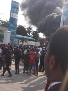 Ecobank fire