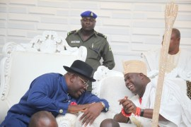 Ooni of Ife and Bayelsa State Governor, Seriake Dickson