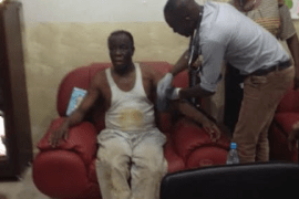 Pa Michael Obi receiving medical attention after rescue