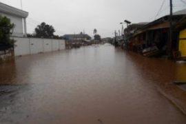 Benin flooded street