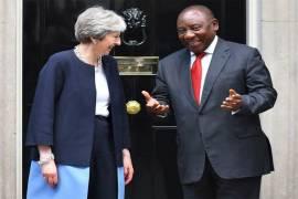 British PM, Theresa May and South Africa President, Cyril Ramaphosa