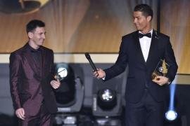 Messi and Ronaldo at awards