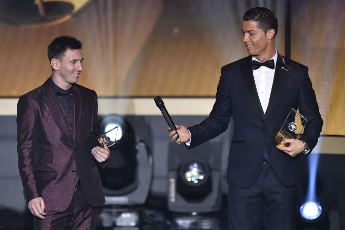 Messi and Ronaldo at awards