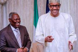 Pastor Kumuyi of Deeper Life Church and President Buhari