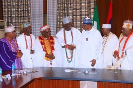 Buhari and some Yoruba traditional rulers