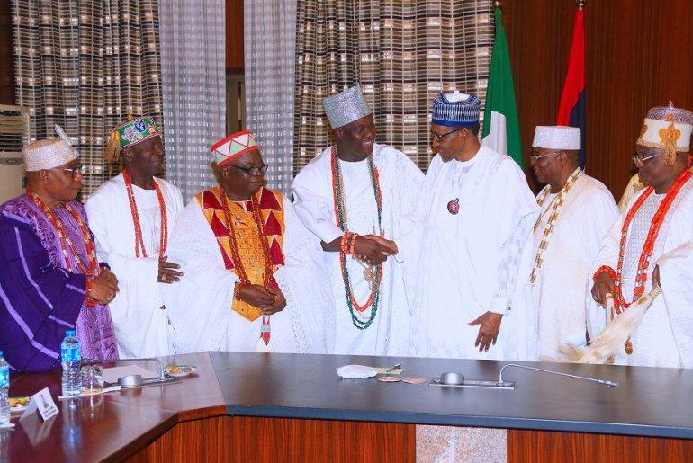 Buhari and some Yoruba traditional rulers