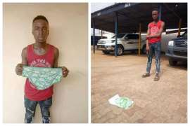 Teenager stesls female pants in Anambra