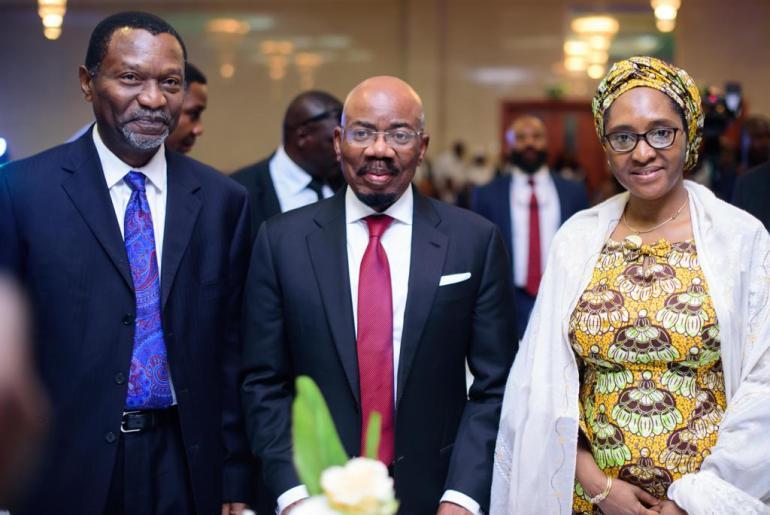 Zenith Bank Chairman, Jim Ovia with Udo Udoma