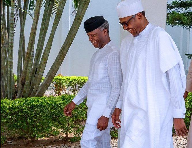 Buhari and Osinbajo after CAN leadership meeting