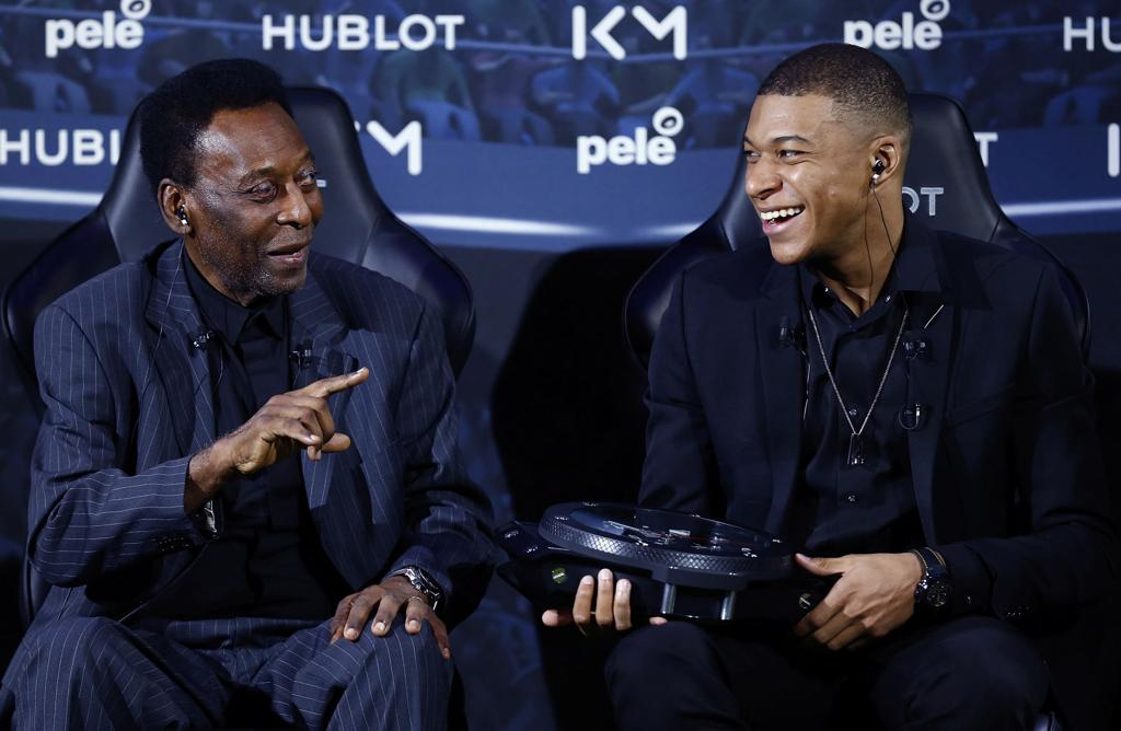 Pele with Mbappe