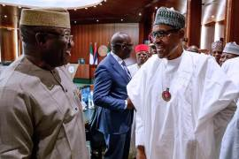 Buhari and NGF chairman, Dr Kayode Fayemi