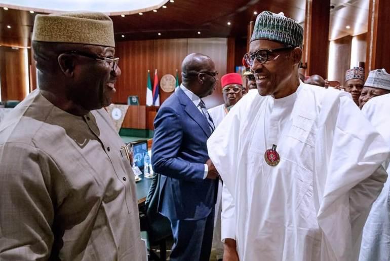Buhari and NGF chairman, Dr Kayode Fayemi