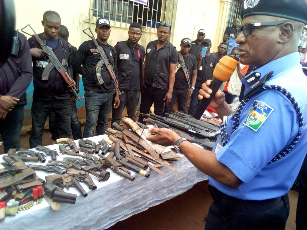 Lagos CP, Muazu addressing reporters