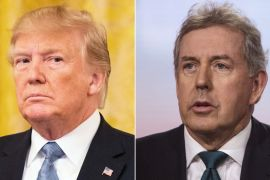Donald Trump and Kim Darroch