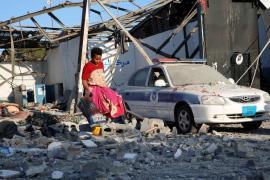 Libya bombed detention centre
