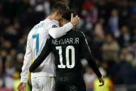 Neymar and Cristiano Ronaldo