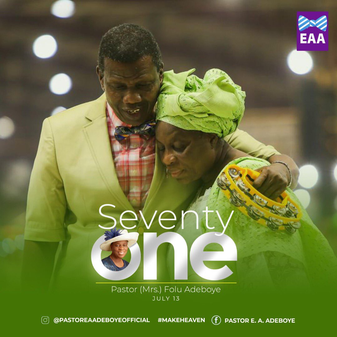 Image result for images of Pastor Adeboye wife at 71
