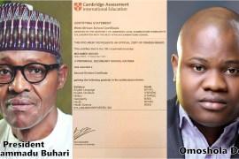 Buhari's certificate controversy