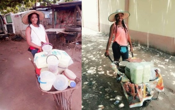 Graduate narrates how she earns N150,000, selling food from wheelbarrow