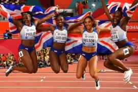 High rising: Asher-Smith won three medals at Doha for Britain