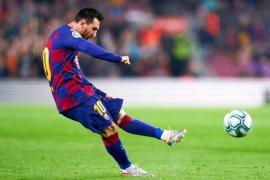 Messi score 50th freekick