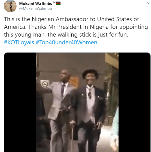 Kenyas mock Nigeria's 85-year old Ambassador to the US