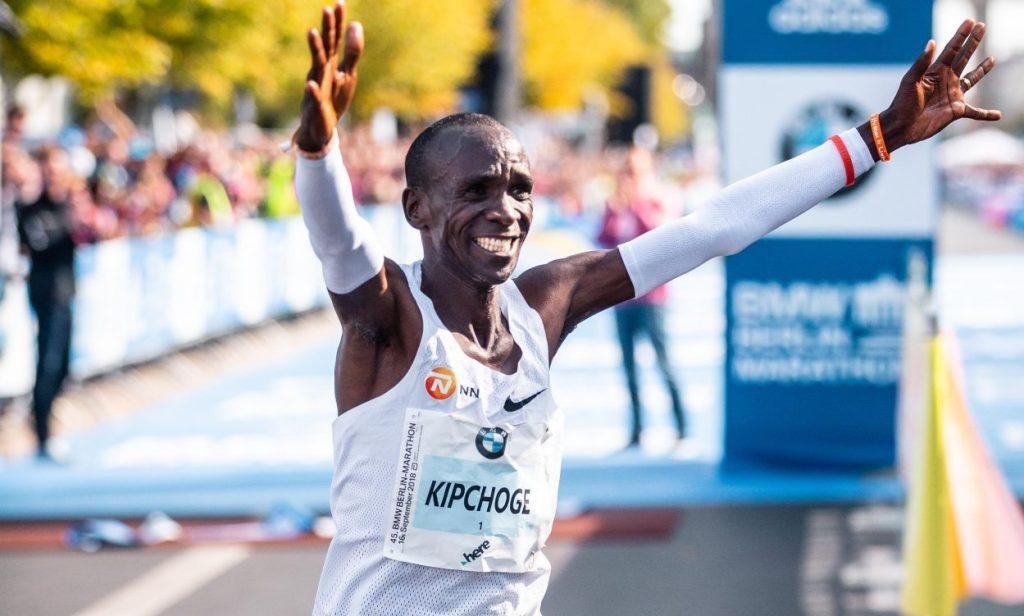 Eliud Kipchoge sets new sub-two hours marathon record