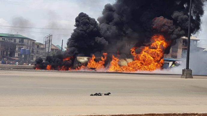 Image result for ONITSHA TANKER EXPLOSION: PRESIDENT BUHARI SYMPATHISES WITH VICTIMS