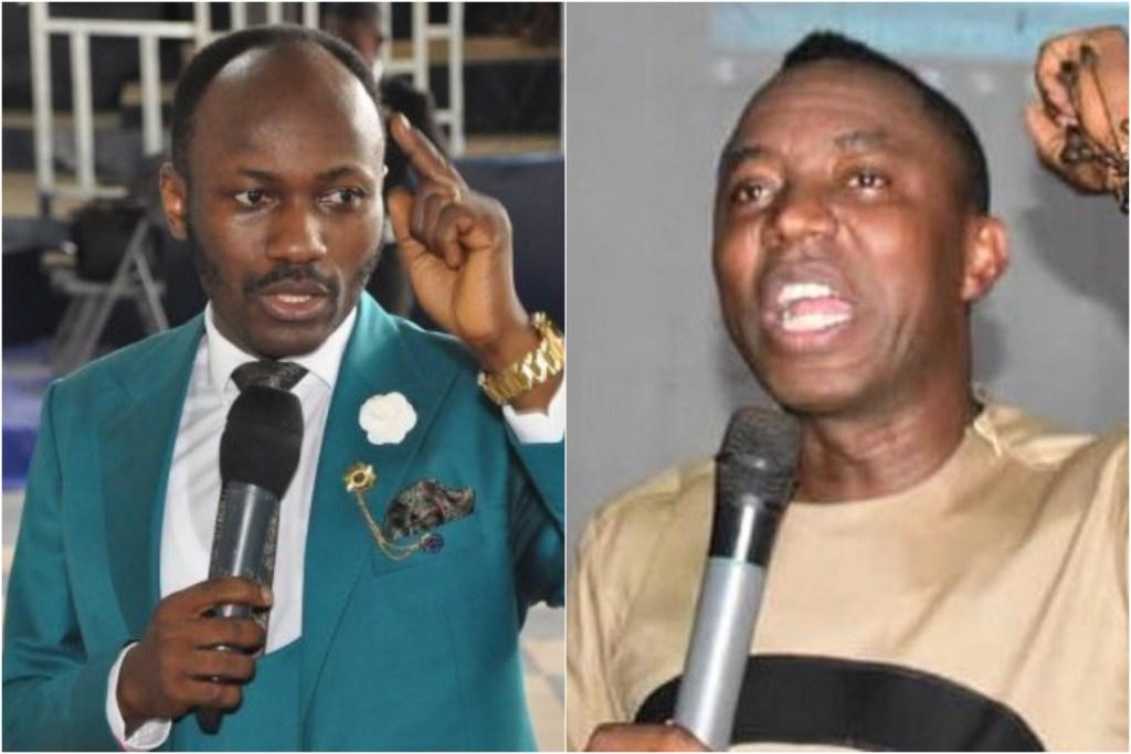 Omoyele Sowore and Apostle Johnson Suleman
