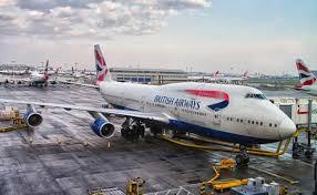 british airways flight looses one engine mid-flight