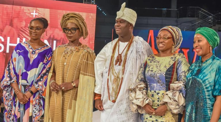 Ooni of Ife catwalks in Lagos