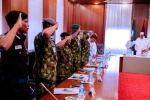 Buhari meets Security Chiefs 24 hours after promising 'hell' for Boko Haram