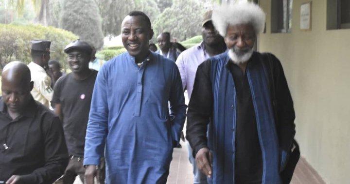 BREAKING: Soyinka, Shehu Sani in Court to support Sowore