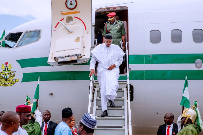 BREAKING: President Buhari arrives Maiduguri amid increasing Boko Haram Attacks