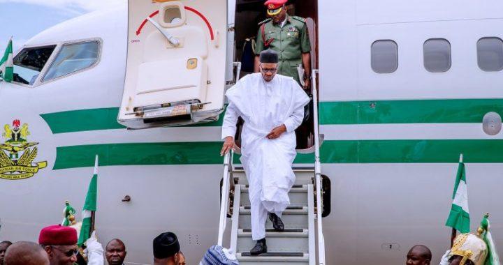 BREAKING: President Buhari arrives Maiduguri amid increasing Boko Haram Attacks